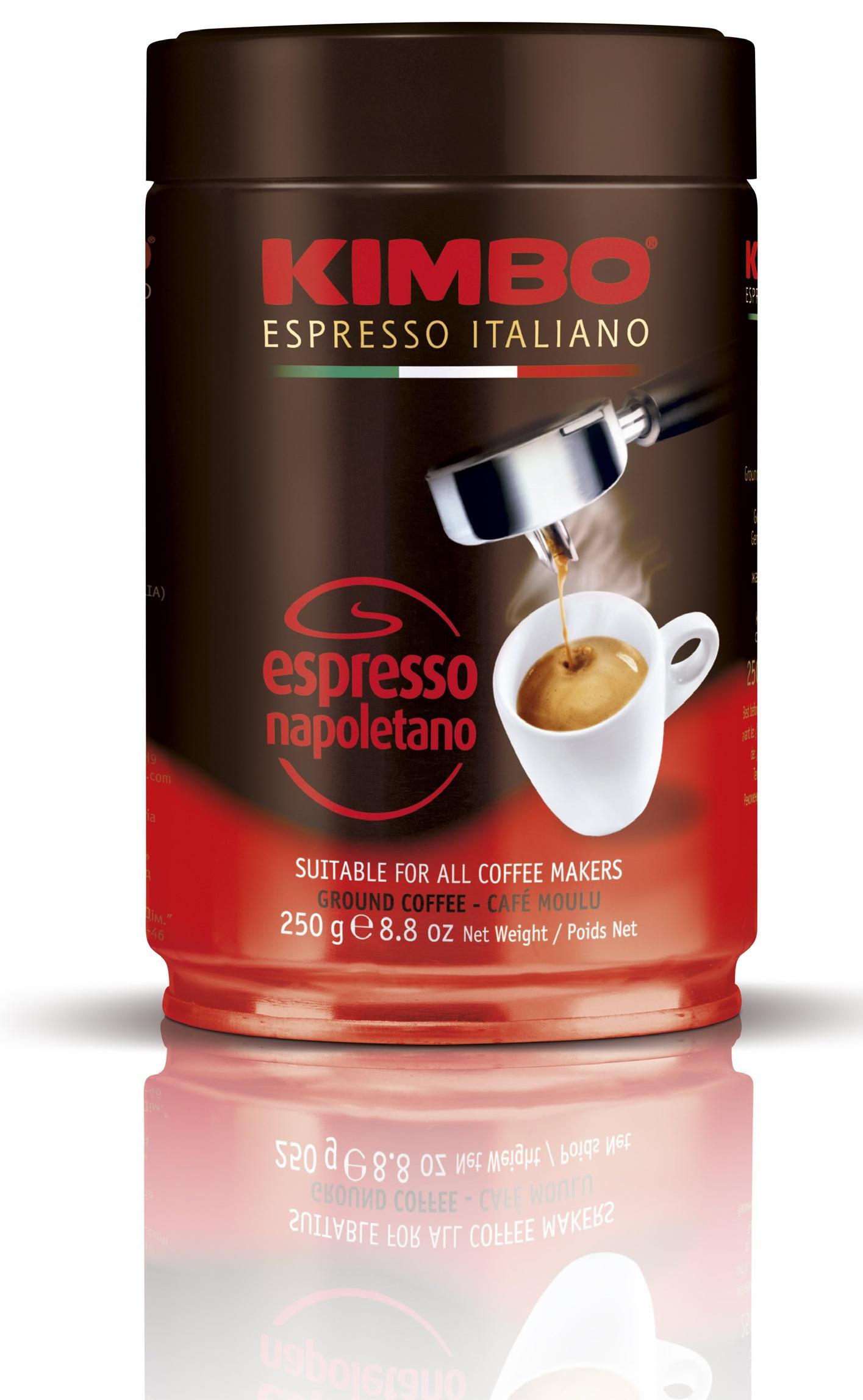 Caff� Kimbo Espresso Napoletano blik gemalen koffie