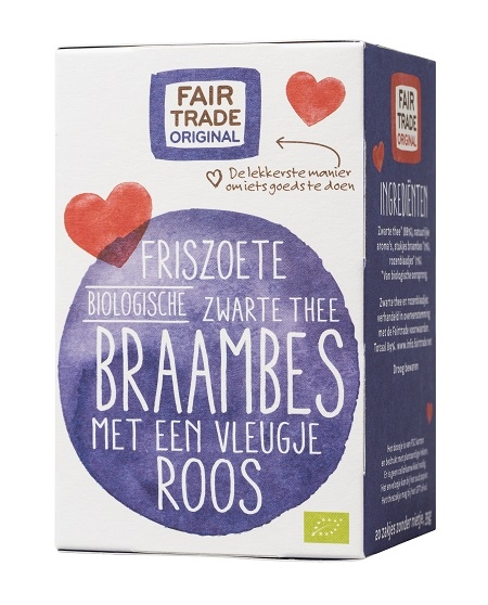 Fair Trade Original Zwarte thee Braambes Roos