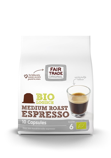 Fair Trade Original Espresso Medium Roast capsules