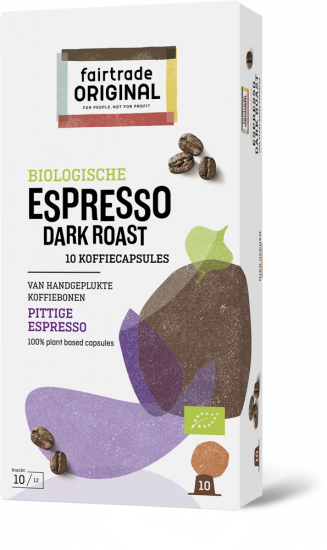 Fair Trade Original Espresso Dark Roast capsules