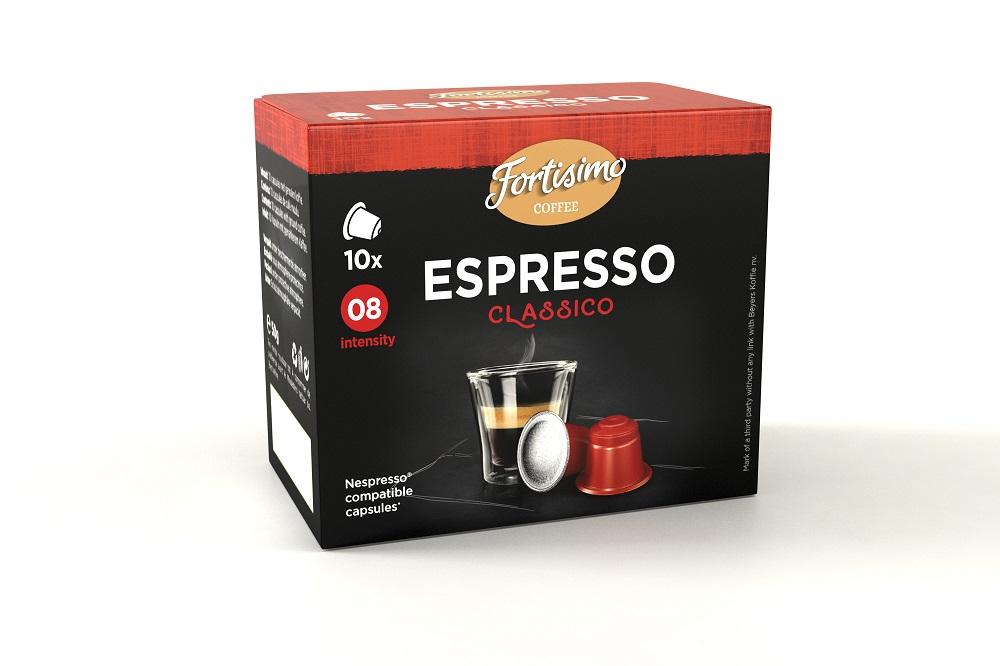 Koffie vergelijk ervaringen Fortisimo Espresso Classico capsules