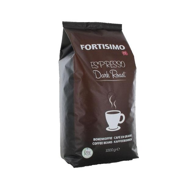 Koffie vergelijk ervaringen Fortisimo Espresso Dark Roast koffiebonen