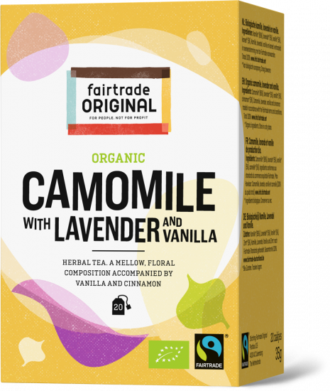 Fair Trade Original thee Kamille met Lavendel en Vanille