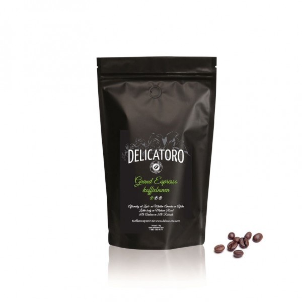 Koffie vergelijk ervaringen Delicatoro Grand Espresso koffiebonen