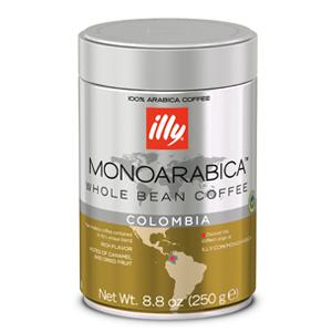Koffie vergelijk ervaringen Illy koffiebonen Monoarabica Colombia
