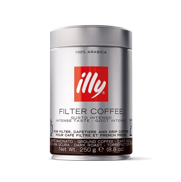 Illy gemalen filtermaling donkere branding