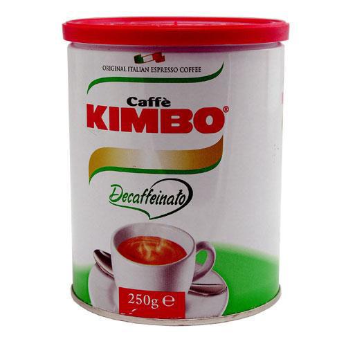 Caffè Kimbo Espresso Decaffeinato blik gemalen koffie