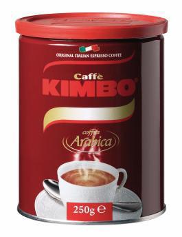 Caffè Kimbo Gran Arabica blik gemalen koffie
