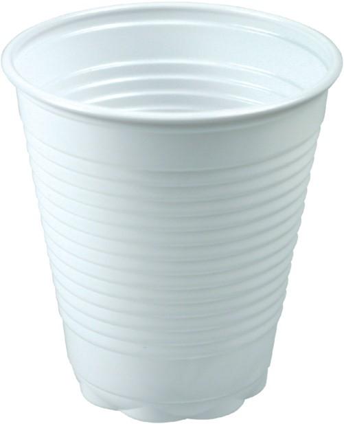 Drinkbeker wit 150 cc plastic