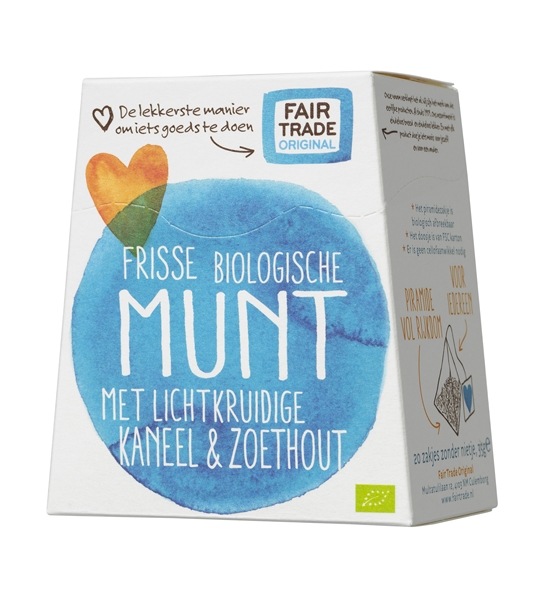 Fair Trade Original thee Munt met Kaneel & Zoethout